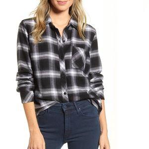 Rails black and white flannel (super soft)